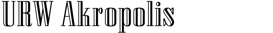 Click to view  URW Akropolis font, character set and sample text