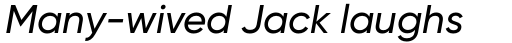 Gilroy Medium Italic sample
