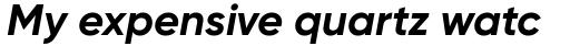 Gilroy Bold Italic sample