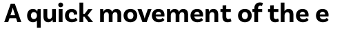 Basic Sans Bold sample