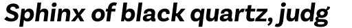 Basic Sans Alt Bold Italic sample