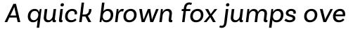 Basic Sans Regular Italic sample