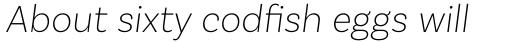 Basic Sans Alt Extra Light Italic sample