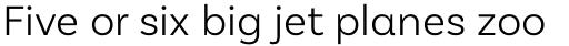 Basic Sans Alt Light sample