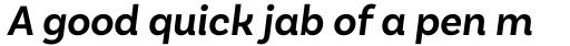Basic Sans Semi Bold Italic sample