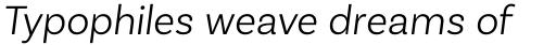 Basic Sans Alt Light Italic sample