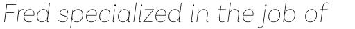 Basic Sans Thin Italic sample