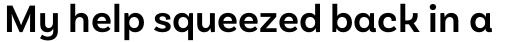Basic Sans Alt Semi Bold sample