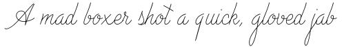Advertising Script Monoline sample