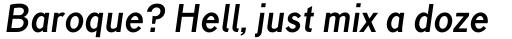 TT Corals Bold Italic sample