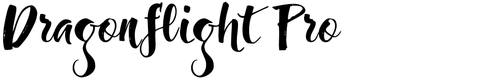 Click to view  Dragonflight Pro font, character set and sample text