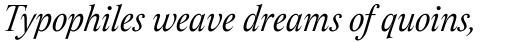 Assemblage Italic sample