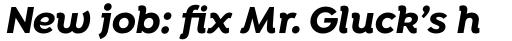 Isidora Alt Bold Italic sample