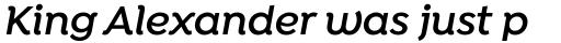 Isidora Alt Semi Bold Italic sample