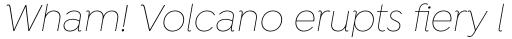 Isidora Thin Italic sample