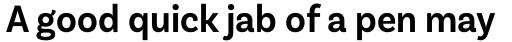 Basic Sans Narrow Semi Bold sample