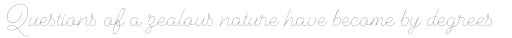 Cosmopolitan Script Thin sample