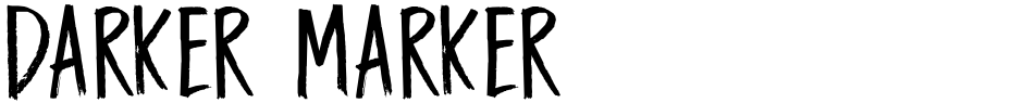 Click to view  Darker Marker font, character set and sample text