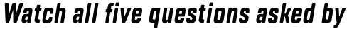 TT Lakes Compressed Bold Italic sample