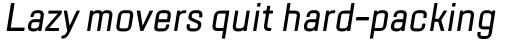 TT Lakes Condensed Medium Italic sample