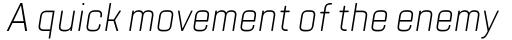 TT Lakes Condensed Light Italic sample