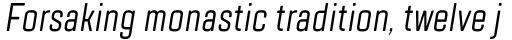 TT Lakes Compressed Italic sample