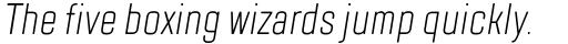 TT Lakes Compressed Light Italic sample