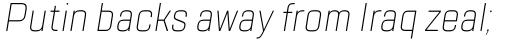 TT Lakes Condensed ExtraLight Italic sample