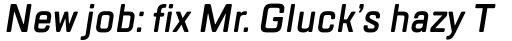 TT Lakes Condensed DemiBold Italic sample