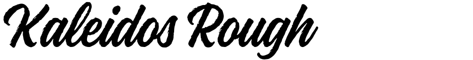Click to view  Kaleidos Rough font, character set and sample text