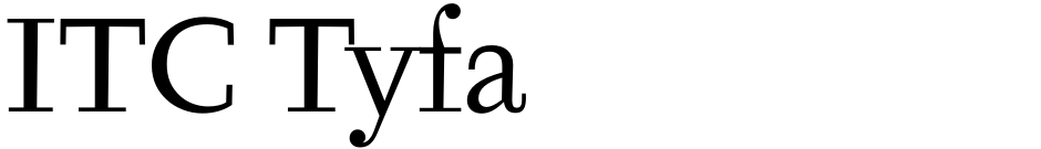 Click to view  ITC Tyfa font, character set and sample text