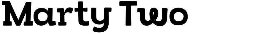 Click to view  Marty Two font, character set and sample text