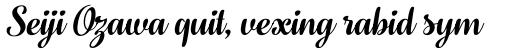 Fragola Italic sample