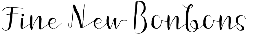 Click to view  Fine New Bonbons font, character set and sample text