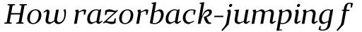 TT Bells Italic sample