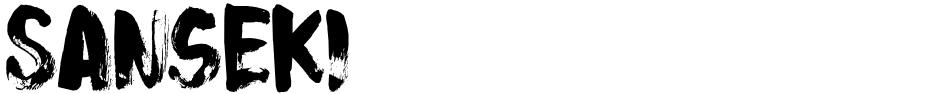 Click to view  Sanseki font, character set and sample text