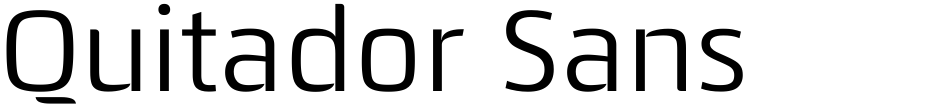 Click to view  Quitador Sans font, character set and sample text