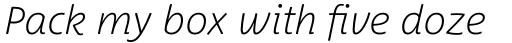 Between Pro 3 Extra Light Italic sample