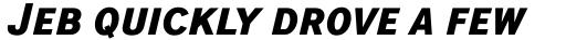 ITC Blair Pro Condensed Bold Italic sample