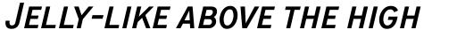 ITC Blair Pro Condensed Medium Italic sample