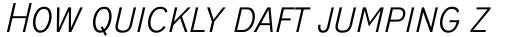 ITC Blair Pro Condensed Light Italic sample