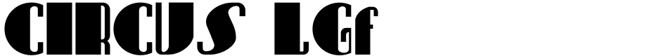 Click to view  CIRCUS LGf font, character set and sample text