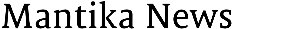Click to view  Mantika News font, character set and sample text