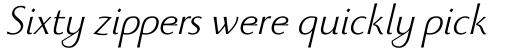 Beatrix Antiqua Light Italic sample