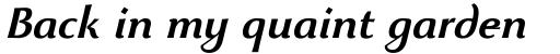 Beatrix Antiqua SemiBold Italic sample