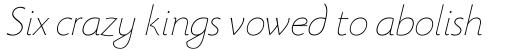 Beatrix Antiqua Thin Italic sample
