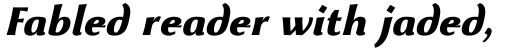 Beatrix Antiqua ExtraBold Italic sample