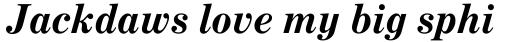 Century Expanded Std Bold Italic sample