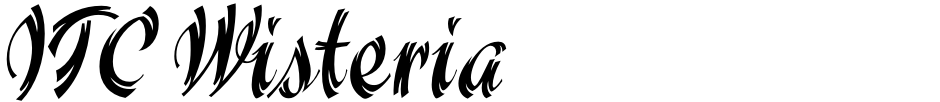 Click to view  ITC Wisteria font, character set and sample text