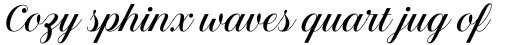 Estampa Script Regular sample